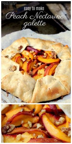 Peach Nectarine Galette Recipe | Easy to make | Easier than pie! This quick dessert is great for holidays or every day. Fresh Fruit Dessert | Click for the recipe on TodaysCreativeLife.com