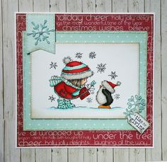 Christmas card using 'A little gift' by Lili of the Valley