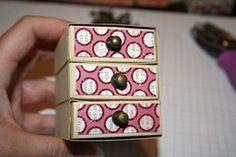 Splitcoaststampers - Tutorials:  Matchbox Dresser by Lydia Fiedler