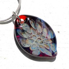 Blown Boro Glass Jewelry  Honeycomb Pendant Glass by UntamedRose, $25.00