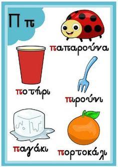 Greek Alphabet Posters by PrwtoKoudouni Learn Greek, Greek Language, Greek Alphabet, Type Posters, Teacher Pay Teachers, Teacher Newsletter, Learning Activities, Teaching, Education
