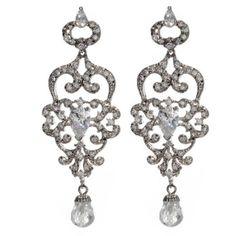 wedding earrings chandelier | Finishing Touches: Chandelier Earrings - Wedding Obsessions | The Knot