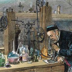 Louis Pasteur by Granger Framed Prints, Canvas Prints, Art Prints, History Cartoon, Louis Pasteur, Wood Engraving, Digital Image, Unique Art, Fine Art America