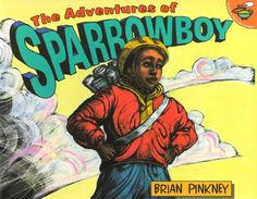 The Adventures Of Sparrowboy by Brian Pinkney http://www.amazon.com/dp/0689835345/ref=cm_sw_r_pi_dp_RP57ub0K3PE0H