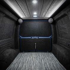 Van Conversion Interior, Camper Van Conversion Diy, Van Interior, Vw Caddy Tuning, Vw Transporter Van, Vw Conversions, Caddy Van, Ford Transit Camper, Luxury Van