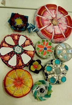 Flores con mosaicos x Ricardo Stefani