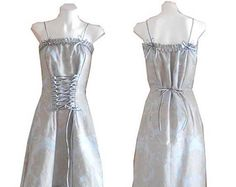 HARAH DESIGNS french barouque corset lace up evening  designer dress with tulle hem and pleated trim will fit size 8/10