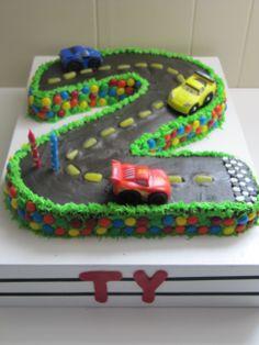 Number 2 CAR cake