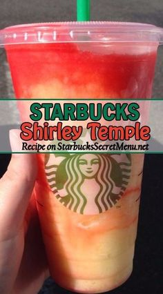 Starbucks' Shirley Temple Copycat Recipe Shirley Temples are one of the most popular mocktails out there. Learn how to order our Starbucks version here! Starbucks Hacks, Starbucks Secret Menu Drinks, Starbucks Coffee, Starbucks Smoothie, Starbucks Refreshers, Starbucks Frozen Drinks, Starbucks Drinks Without Coffee, Special Starbucks Drinks, Starbucks Strawberry Lemonade