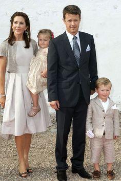 The Danish Royal Family at Mogeltonder Church. #royals #royalfamily (Photo by: Courtesy of Julian Parker/UK Press via Getty Image)