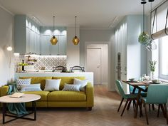 Condo Living, New Living Room, Small Living Rooms, Living Room Decor, Studio Apartment Design, Small Apartment Interior, Design Case, Web Design, House Design