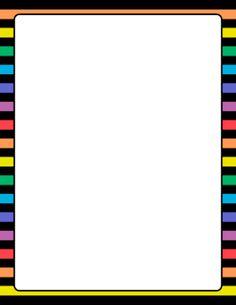 Rainbow and Black Striped Border