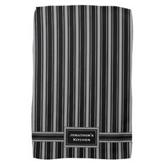 Modern Masculine Black, White and Grey Stripes