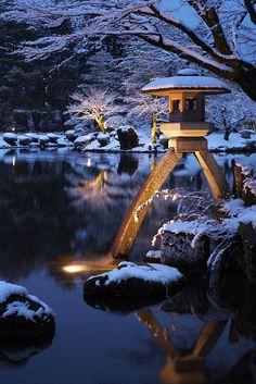 OK the King said he would like to travel here ... I'd go here with him in a heart beat!! Winter in Kenroku-en Garden, Kanazawa, Ishikawa, japan