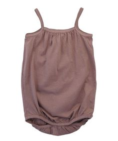 Take a look at this Cacao Organic Sleeveless Bodysuit - Infant by Serendipity Organics on #zulily today!