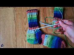Pletení ponožek na pěti jehlicích - 2. část - YouTube Knitting Videos, Double Knitting, Handicraft, Fingerless Gloves, Arm Warmers, Knitting Patterns, Homemade, Crochet, Youtube