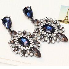 2018 Gift Fashion Blue Crystal Rhinestone Ear Drop Dangle Stud Earrings for sale online Cheap Earrings, Girls Earrings, Blue Earrings, Crystal Earrings, Crystal Rhinestone, Statement Earrings, Prom Jewelry, Wedding Jewelry, Fashion Earrings