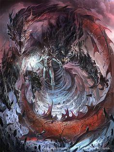 Artist: Ignacio Bazán Lazcano aka neisbeis - Title: Ragnarok - Card: Marchosias, Hell Archduke