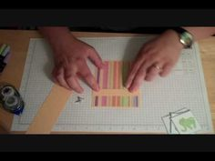 Waterfall Baby Card - YouTube - I wonder if I can do this. I love the idea.