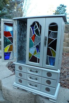Fun Silver Box with Wild Stained Glass