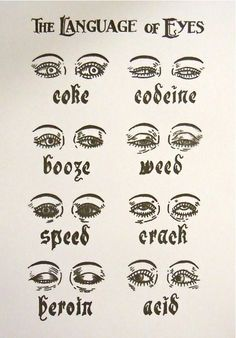 Drugs by the language of eyes