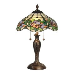 Dale Tiffany 23 in. Chicago Antique Bronze Table Lamp-TT90179 - The Home Depot