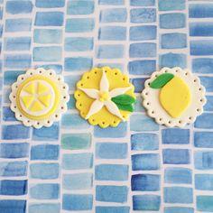 New Lemon fondant cupcake toppers