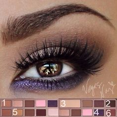 .@vegas_nay | ..here are the color placements of the @Too Faced Cosmetics Chocolate Bar Eye Palette to... | Webstagram