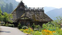 Miyama (美山) is a remote, rural area in the mountains 30 kilometers north of central Kyoto. The area is famous for its traditional, thatched roof - kayabuki - farmhouses .