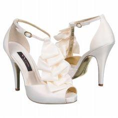Ivory wedding shoes.