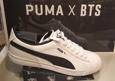 2050ecd02a14 BTS Puma Sneakers Shoes BASKET MADE by BTS White Black Gold 3rd Version  Original