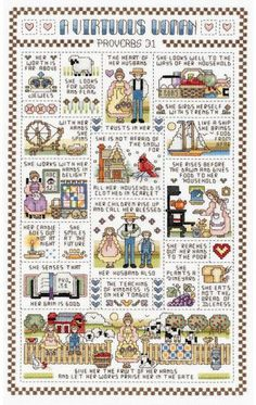 Beautiful images of Proverbs 31.  If I were more like this woman, I'd probably have the cross-stitch finished, too.  :-)
