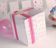 Caja alta para tartas impresa