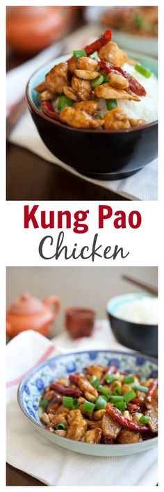 Kung Pao Chicken - healthier and less greasy homemade recipe that's 10x better than takeout | rasamalaysia.com