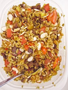 Curried Freekeh Salad, Wholeliving.com #vegetarian #meatlessmonday #lunchbunch
