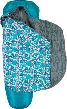 Kelty Tru.Comfort Zip 29 Sleeping Bag - Women's ($129.95) Alternate View (Deep Lake/Floral)