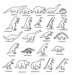 dinos - could be good template for embroidery or appliqué