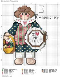 alfabeto dolly: E = embrodery