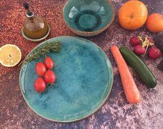 Dinner Plates Rustic Dinnerware Handmade Pottery of the Ceramic Spoons, Ceramic Plates, Ceramic Dinner Set, Rustic Dinnerware, Rustic Plates, Rustic Ceramics, Pottery Plates, Plates And Bowls, Dinner Plates