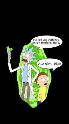 Rick and Morty; Rick and Morty Brasil;  Rick and Morty Wallpaper; Rick and Morty Tela de bloqueio; Rick Sánchez; Morty Smith; Rick and Morty Português;