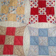 Antique quilt improved nine patch design by MilkweedVintageHome, $175.00