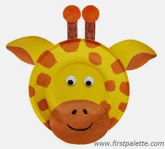 Paper Plate Animal...diy giraffe step by step!!