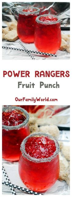 Get ready to spring into action & plan the ultimate superhero party with our tasty Power Rangers movie punch recipe! Perfect for kids, since it�s a non-alcoholic drink!