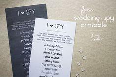 Free 'I Spy' Wedding Printable | Living YOUR Creative