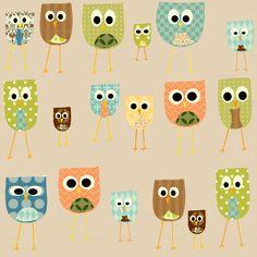 owls fabric 2