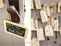 vintage key esescort cards   CHECK OUT MORE IDEAS AT WEDDINGPINS.NET   #weddings #weddingseating #weddingdecoration