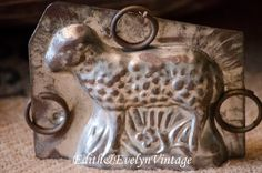 Antique Sheep Chocolate Mold Tin Lamb by edithandevelyn on Etsy