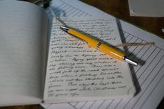 """The Pilot Vanishing Point, in yellow. True """"modern classic"""" pen in a fun color (from Fountain Pen Network). Medium nib please!"""