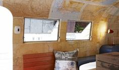 Check out 27 of the most amazing RV travel trailer remodels. These travel trailer RV makeovers are absolutely stunning! Airstream Remodel, Airstream Interior, Camper Renovation, Vintage Airstream, Vintage Campers, Rv Travel Trailers, Travel Trailer Remodel, Airstream Trailers, Remodel Caravane