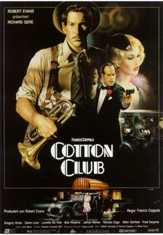 The Cotton Club - Francis Ford Coppola - movie poster designed by Renato Casaro